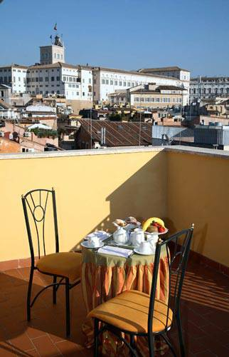 Terrasse boutique hotel trevi rom